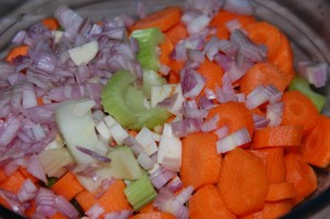 Les légumes épluchés