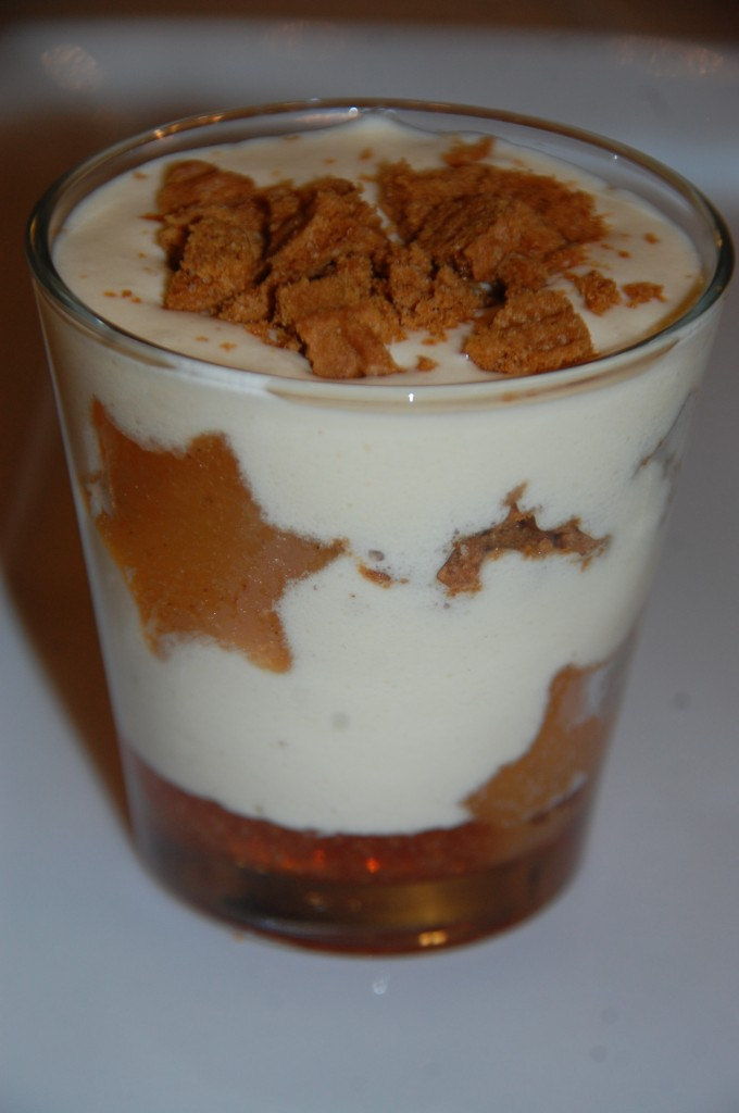 Coupe glacée spéculoos coing