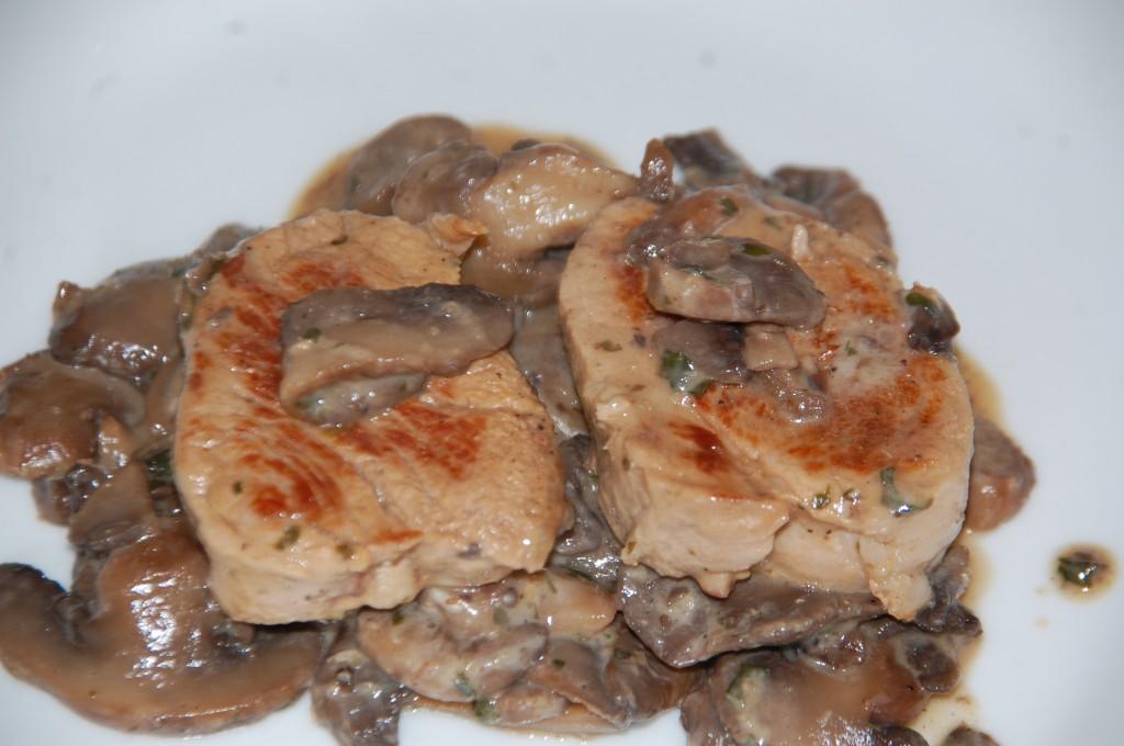 Filet mignon aux champignons