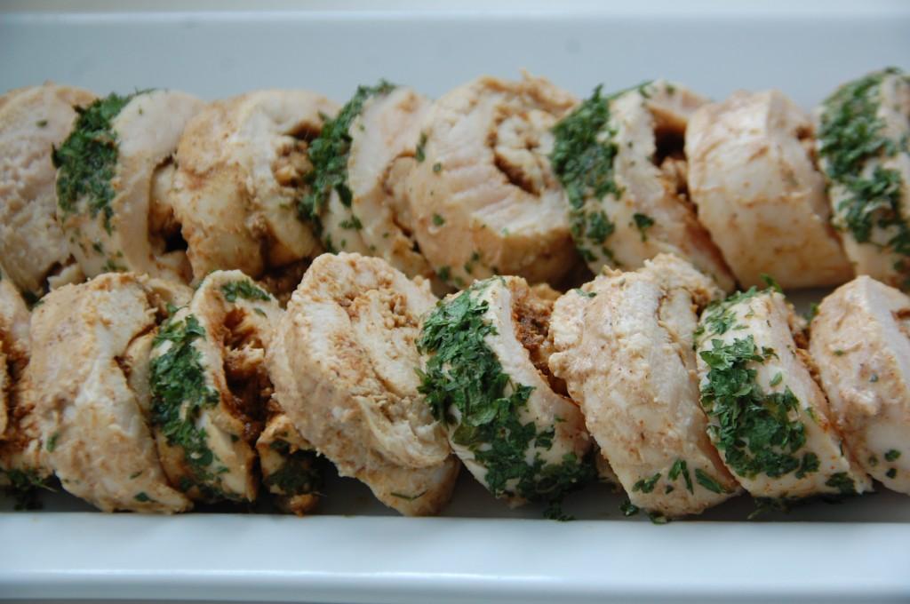 Roulés de poulet tandoori