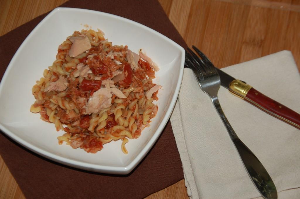 Torti au thon à la tomate