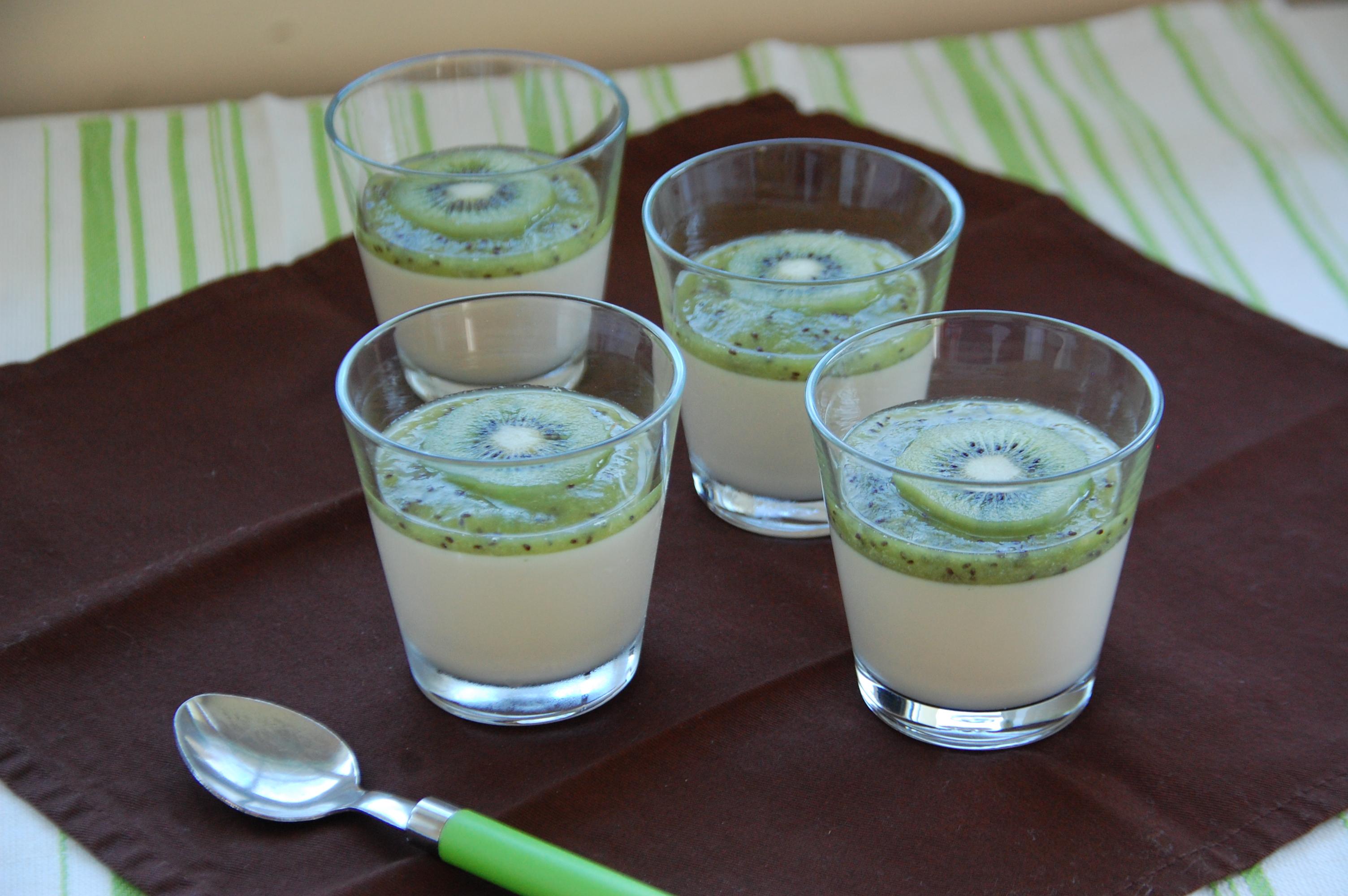 Gateau lait de coco kiwi