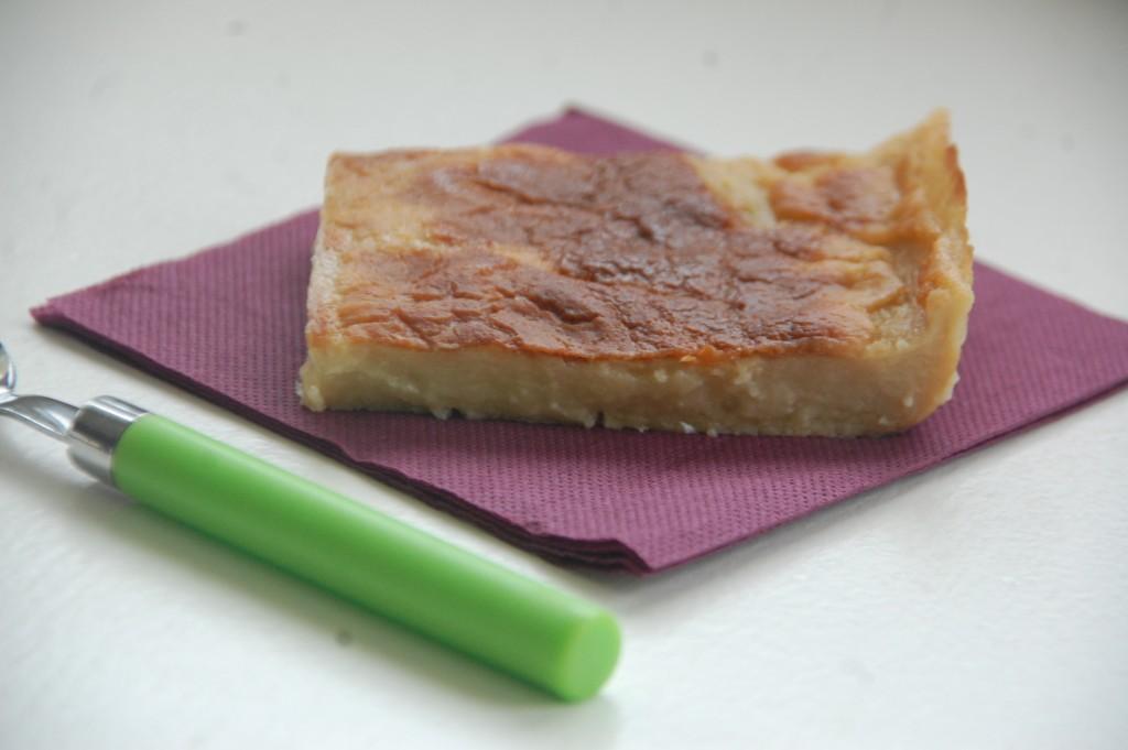 Flan au lait d'amande caramel au beurre salé