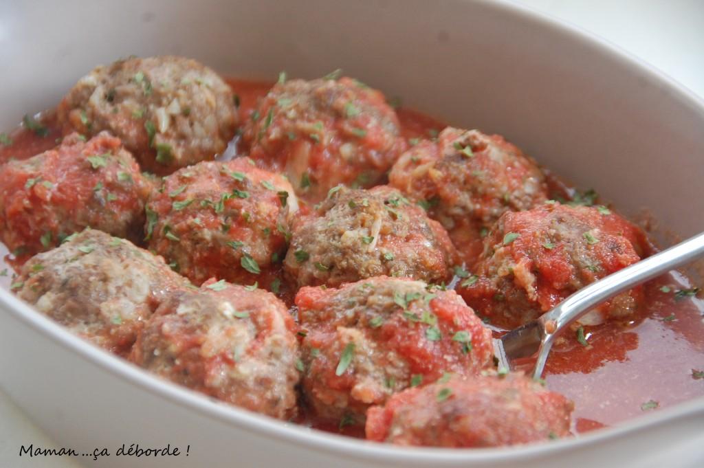 Boulettes marinées à la tomate
