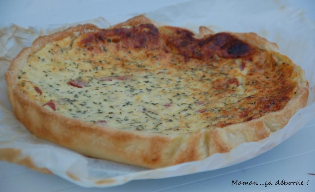 Quiche au fromage blanc et jambon