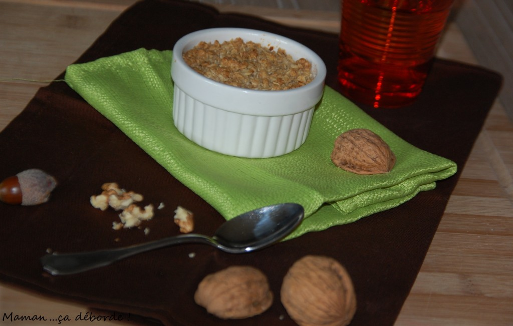 Crumble patate douce, noisette et cannelle