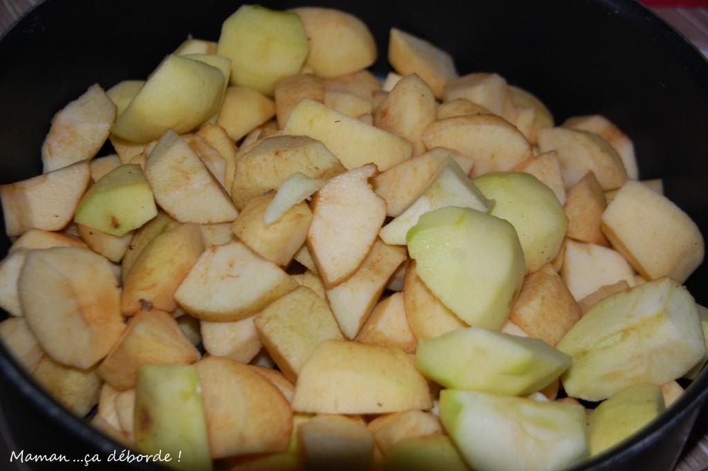 Découpez les pommes