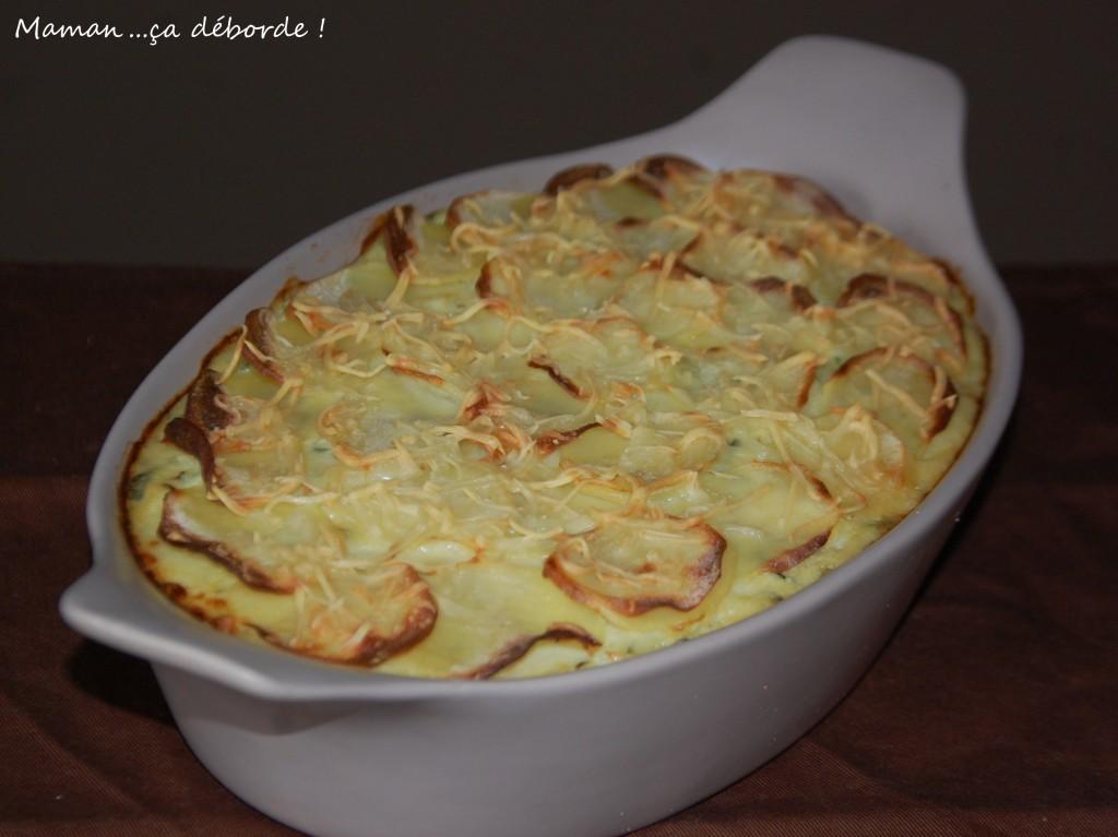 Gratin aux courgettes et pommes de terre