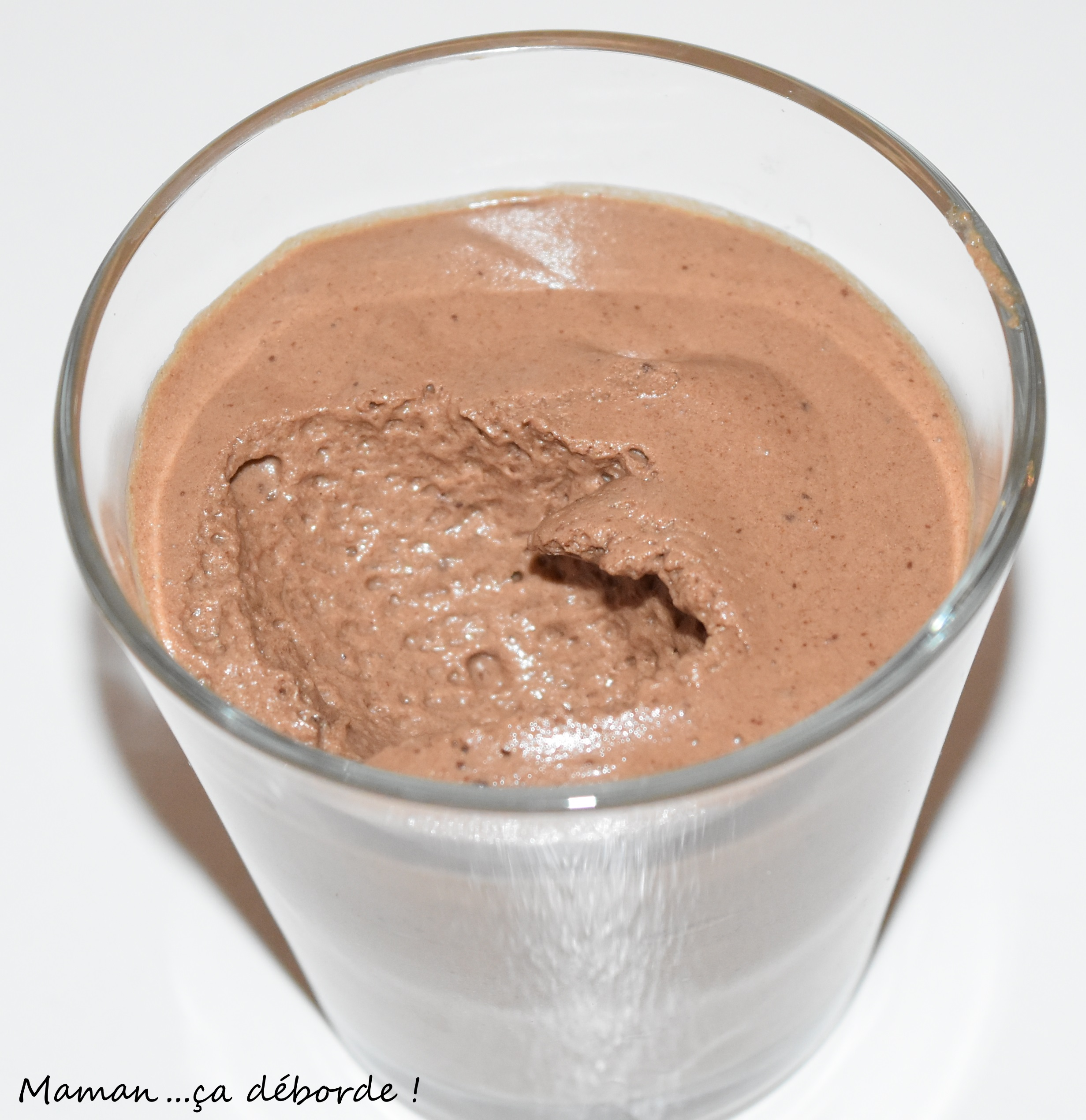 La mousse au chocolat de ma grand m re maman a d borde - Mousse au chocolat a la creme ...