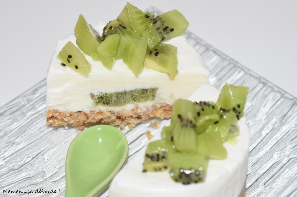 Mini cheesecake coeur de kiwi