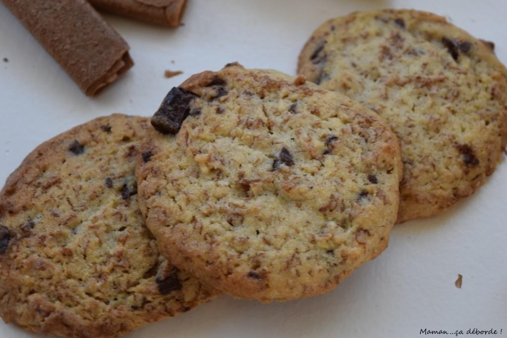 Cookies aux gavottes, chocolat et noisettes
