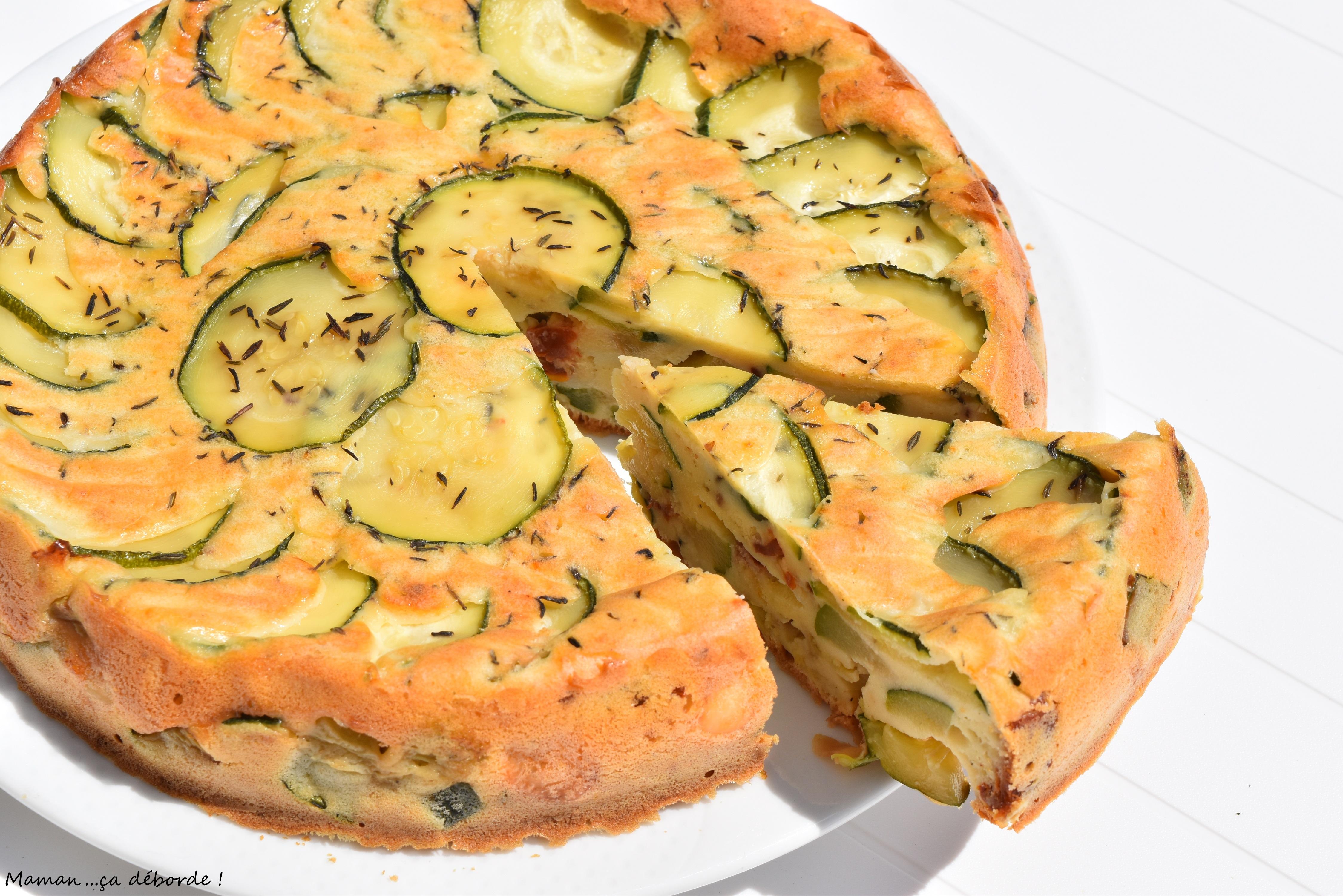 Gâteau renversé au yaourt et aux courgettes grillées1