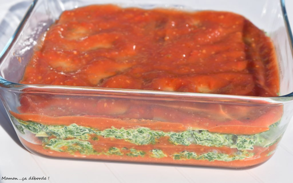 Lasagne épinard et tomate