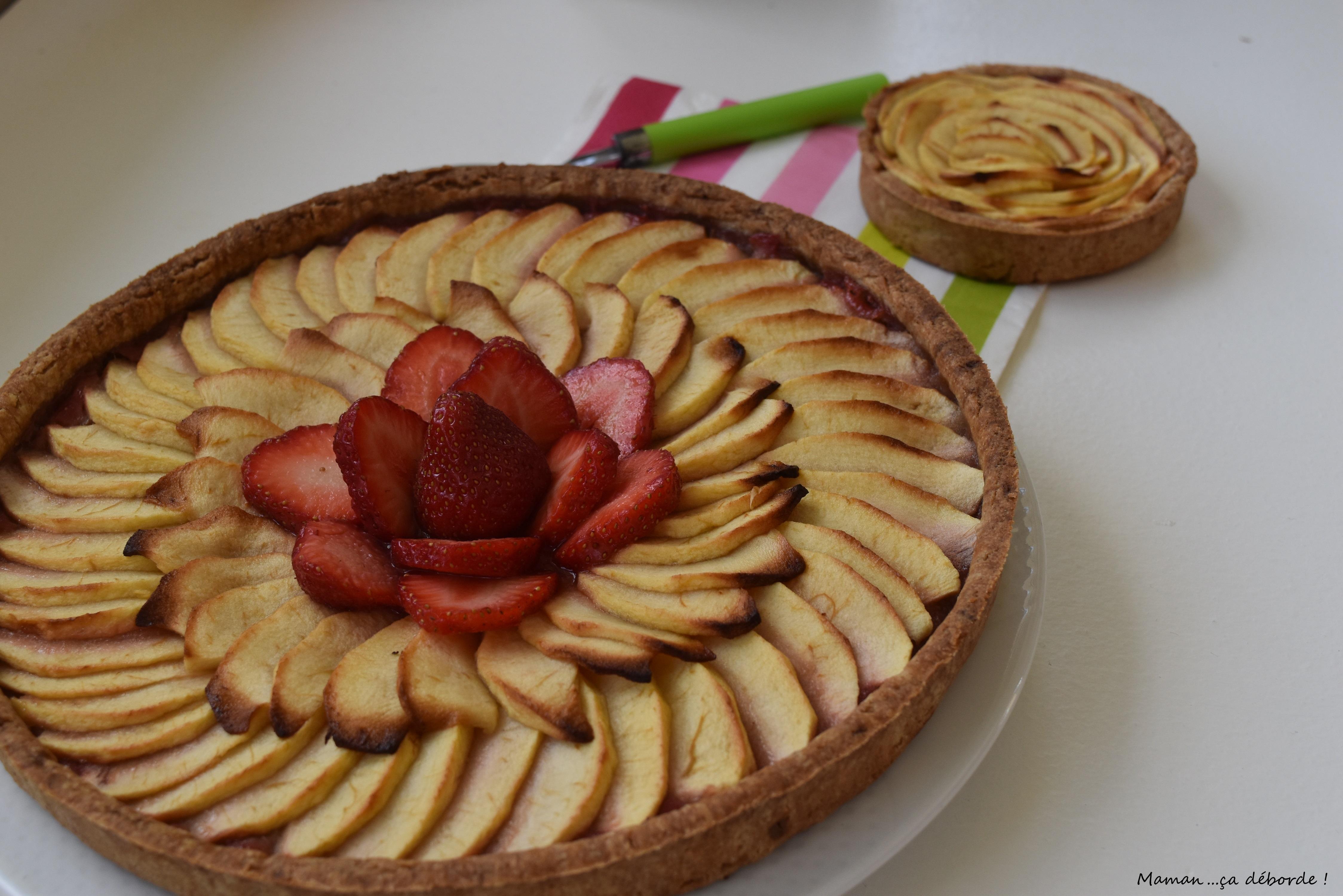 Tarte aux pommes à la fraise6