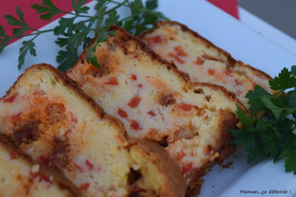 Cake aux poivrons et au chorizo