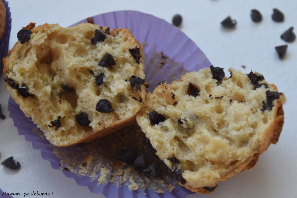 Muffins au lait ribot et pépites de chocolat