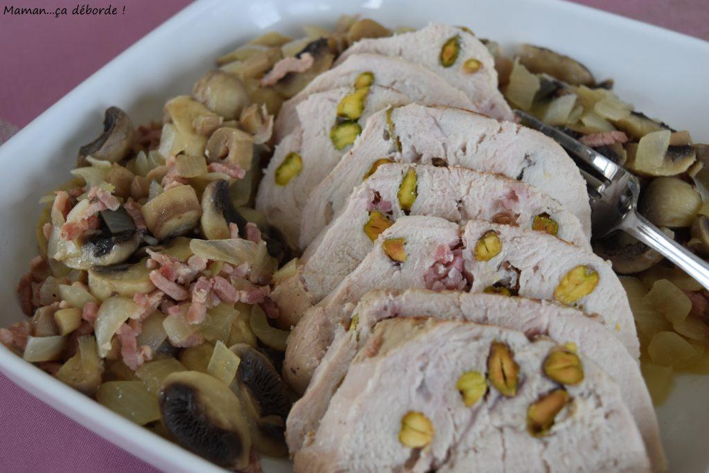 Rôti de dinde aux pistaches