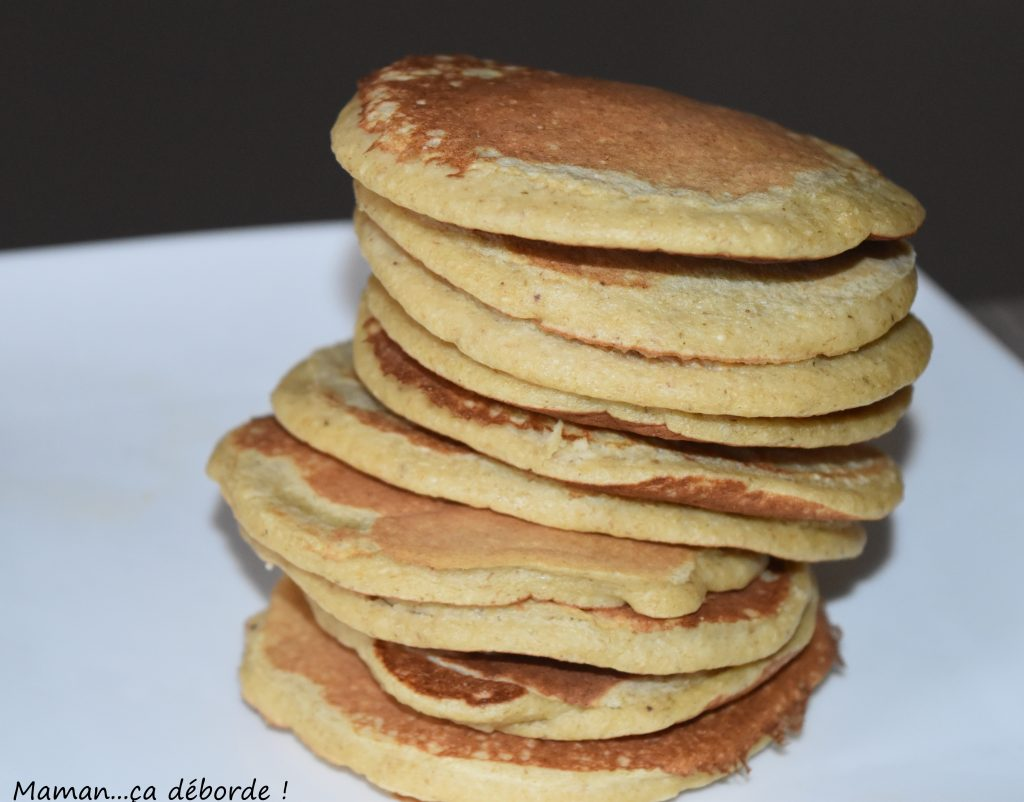 Pancake à la banane et flocons d'avoine