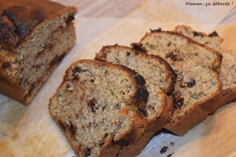 Cake à la peau de banane et pépites de chocolat1