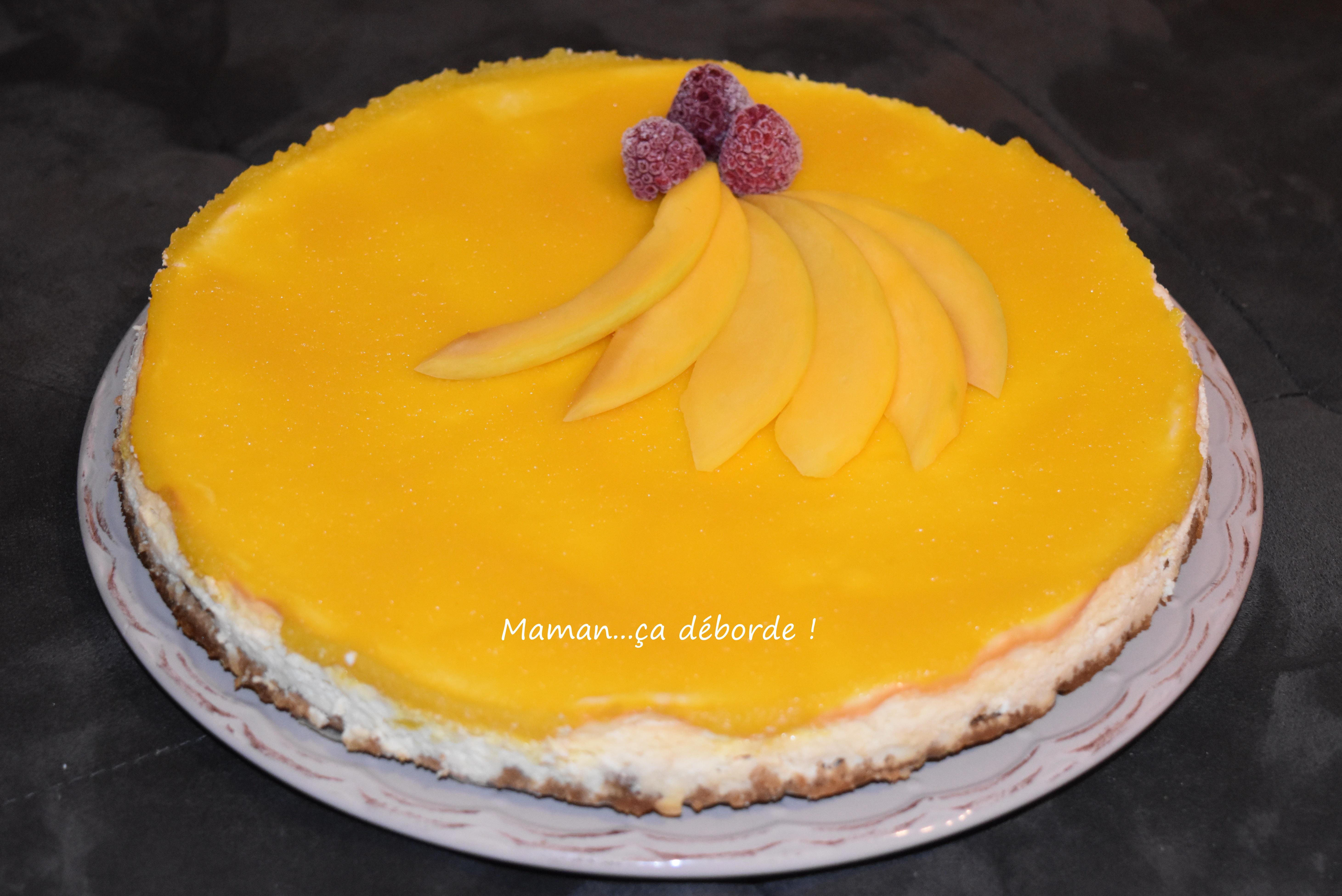 Cheesecake à la mangue1