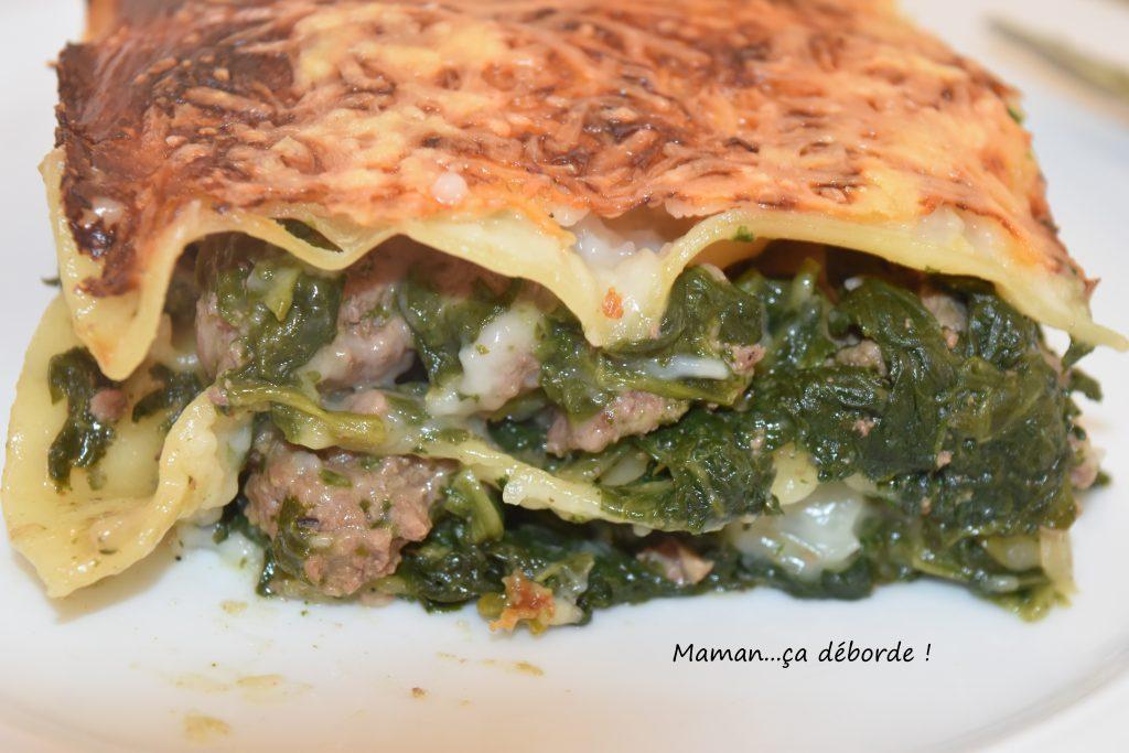 Lasagnes aux épinards et au boeuf