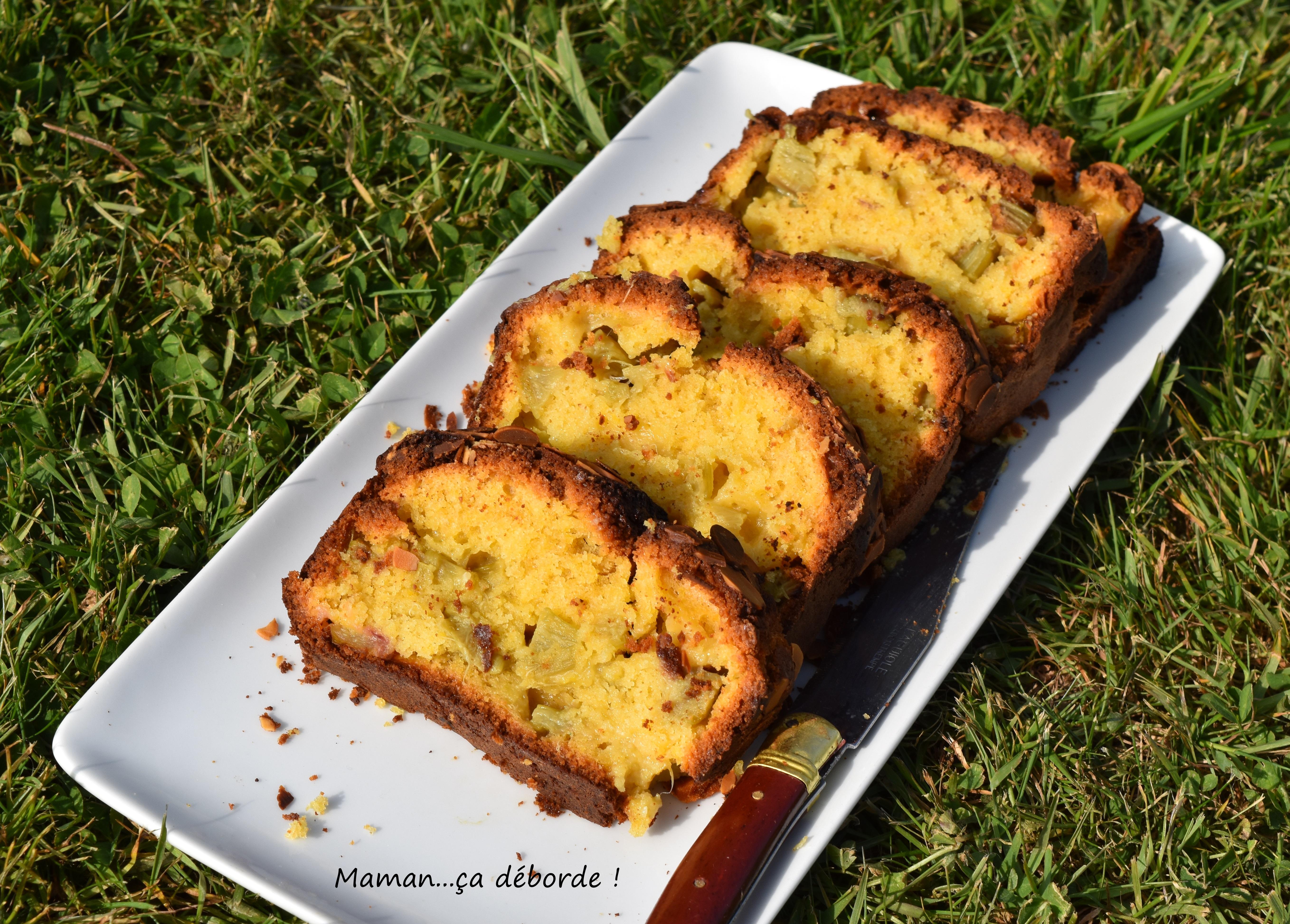 Cake moelleux à la rhubarbe2