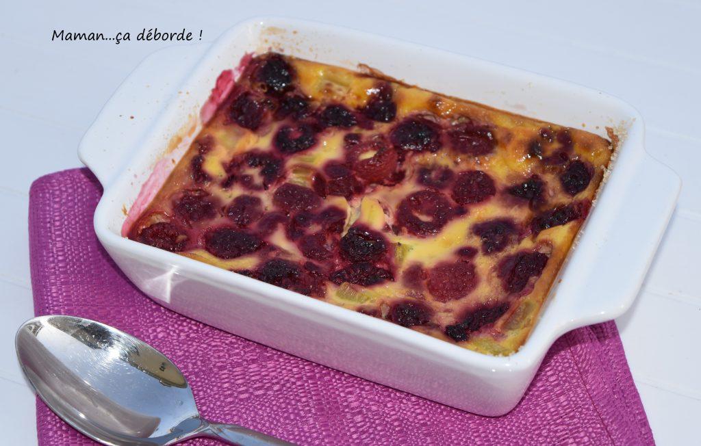 Clafoutis rhubarbe et framboise