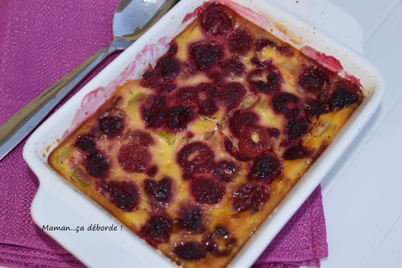 Clafoutis rhubarbe et framboise2