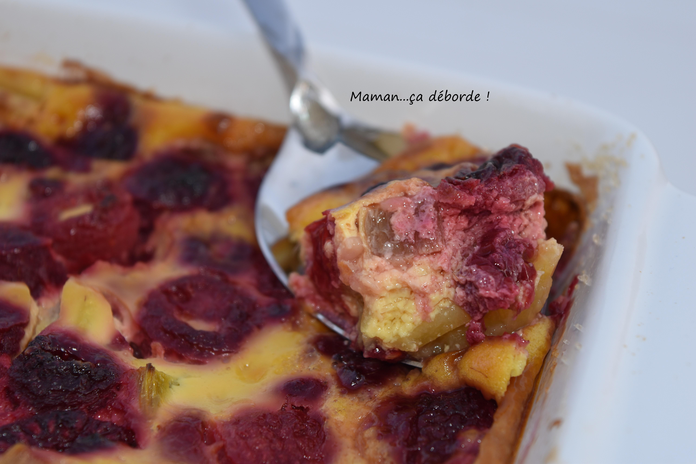 Clafoutis rhubarbe et framboise3