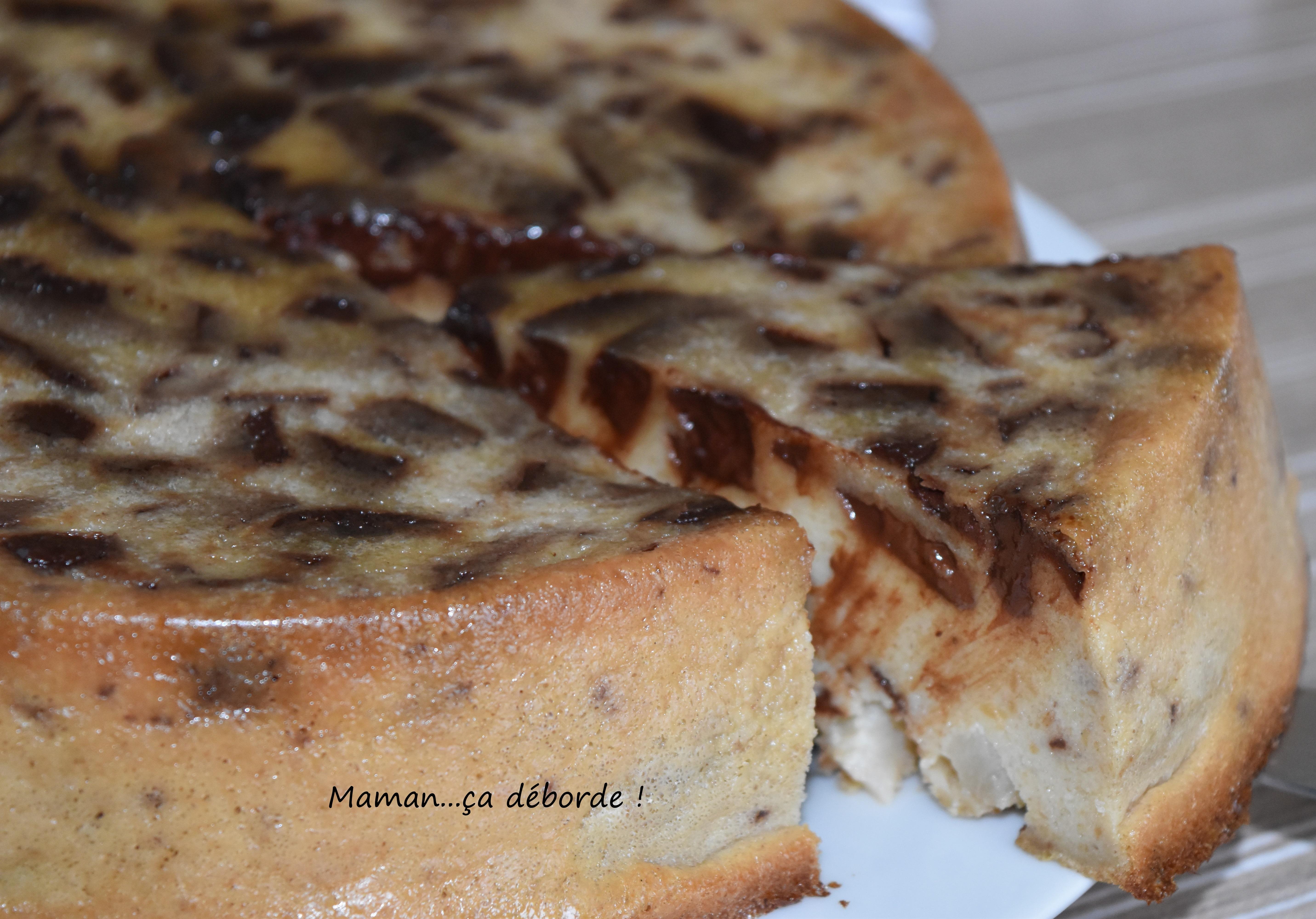 Gâteau de pain poire et chocolat1
