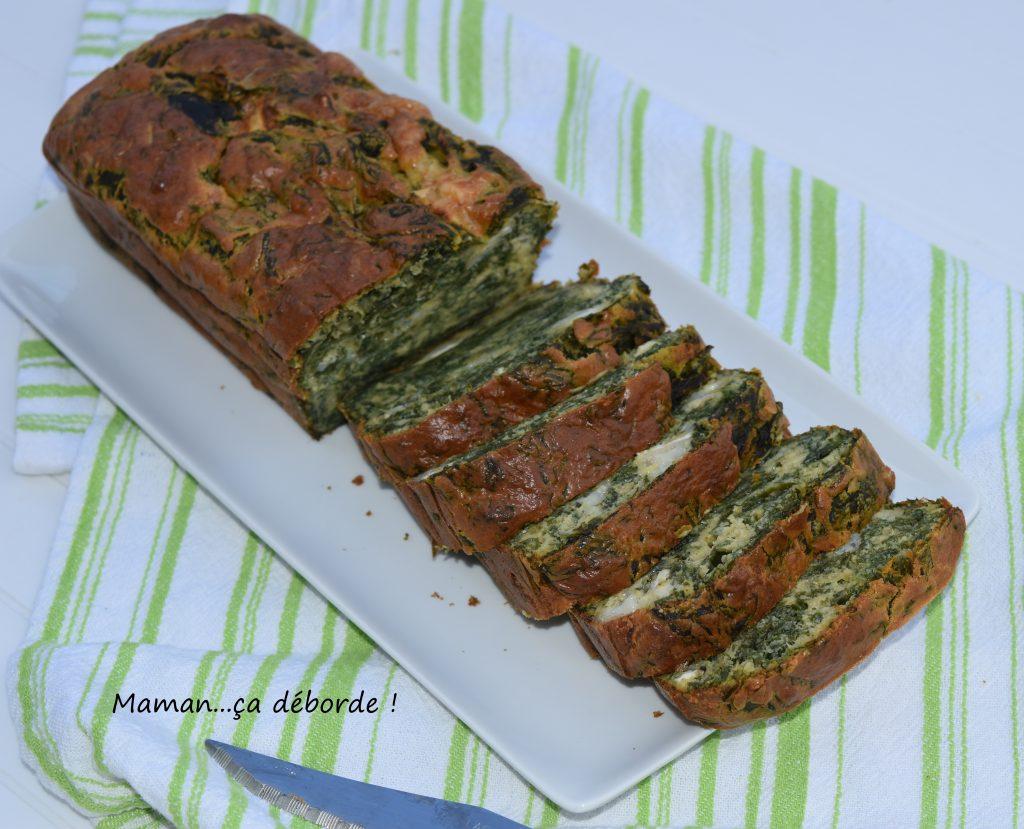 Cake Epinard Chevre Moelleux