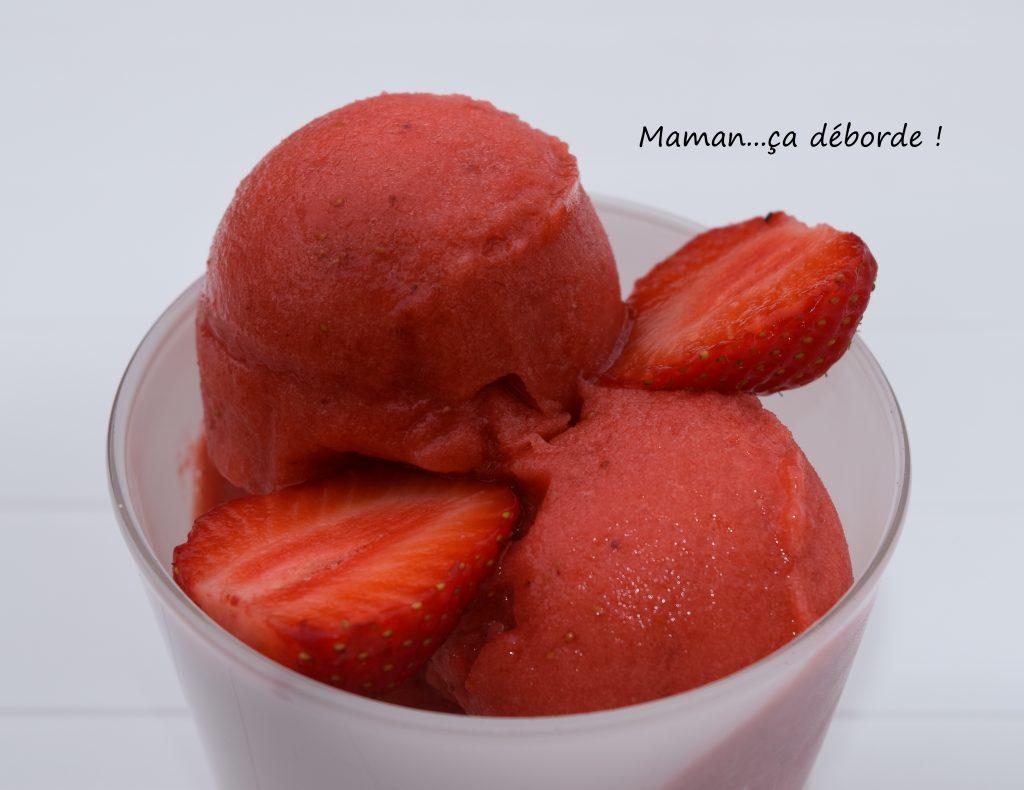 Sorbet à la fraise selon Michalak