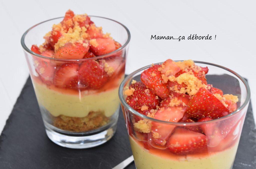 Tarte aux fraises en verrine