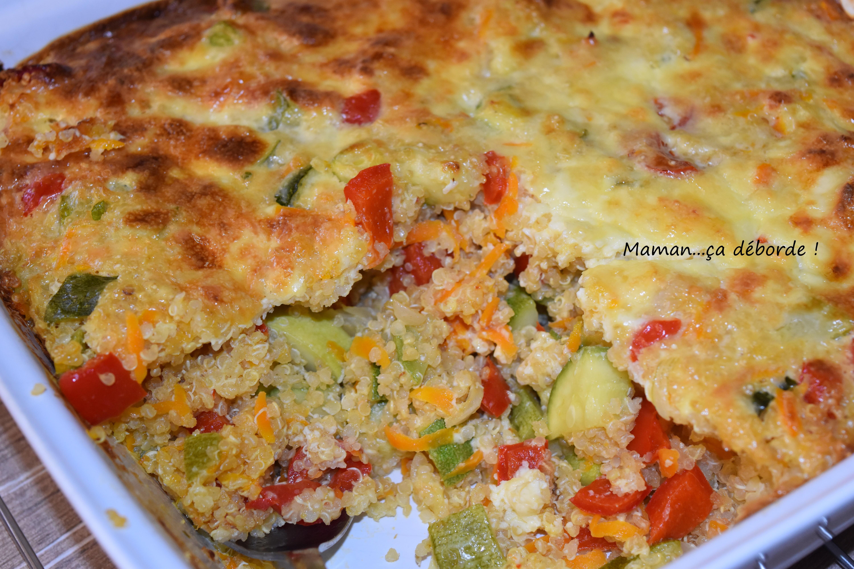 Gratin quinoa, courgette et poivron2