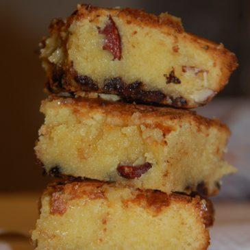 Brownie au chocolat blanc et amandes