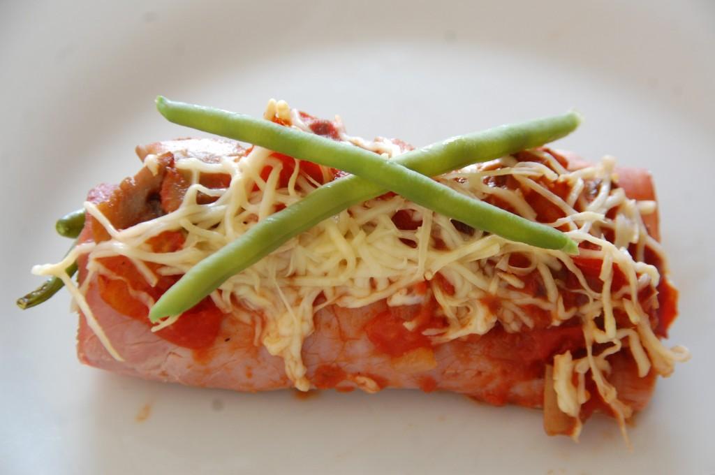 Roulés de jambon haricots verts champignons - Maman...ça