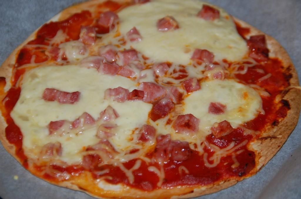 Tortilla façon pizza
