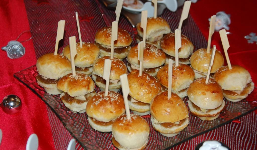 Mini Hamburgers de foie gras
