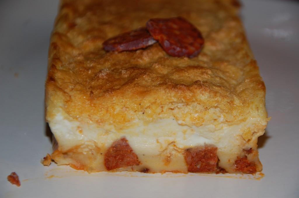 Gâteau magique chorizo vache qui rit