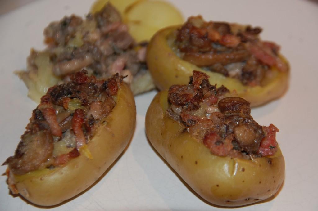 Pommes de terre farcies champignon/boursin