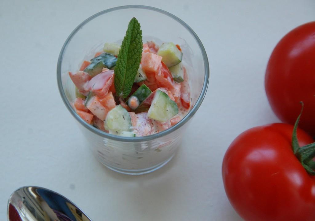 Salade de légumes façon raïta
