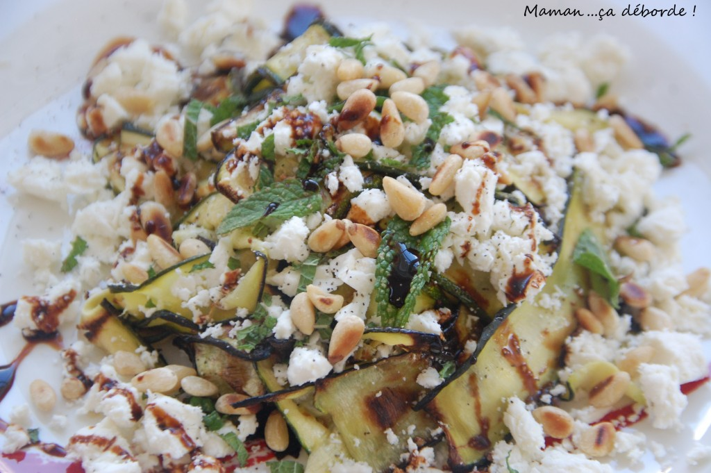 Salade de courgettes grillées