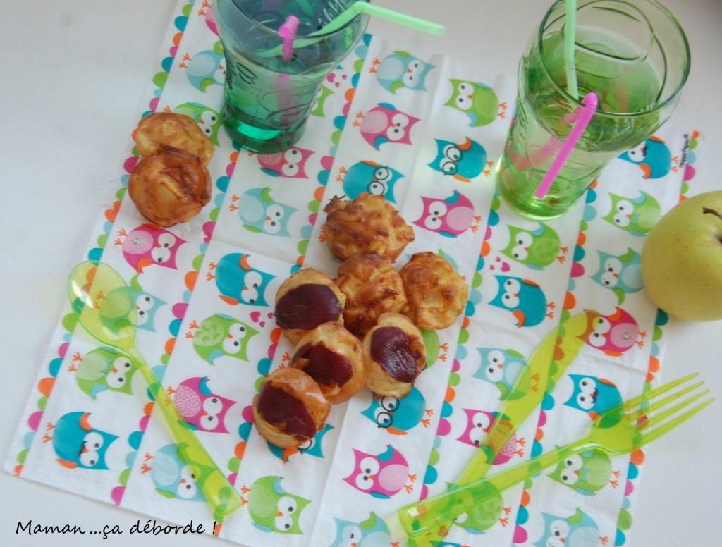 Muffins au magret de canard et pomme