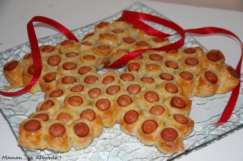 Etoile de saucisses feuilletés