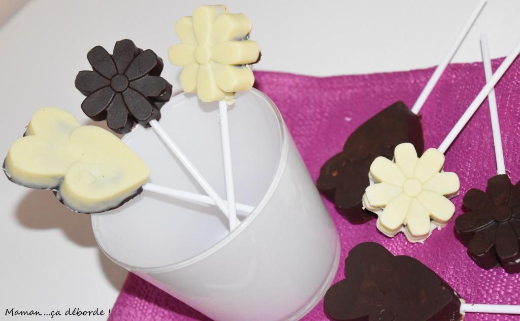 Sucettes chocolat coco