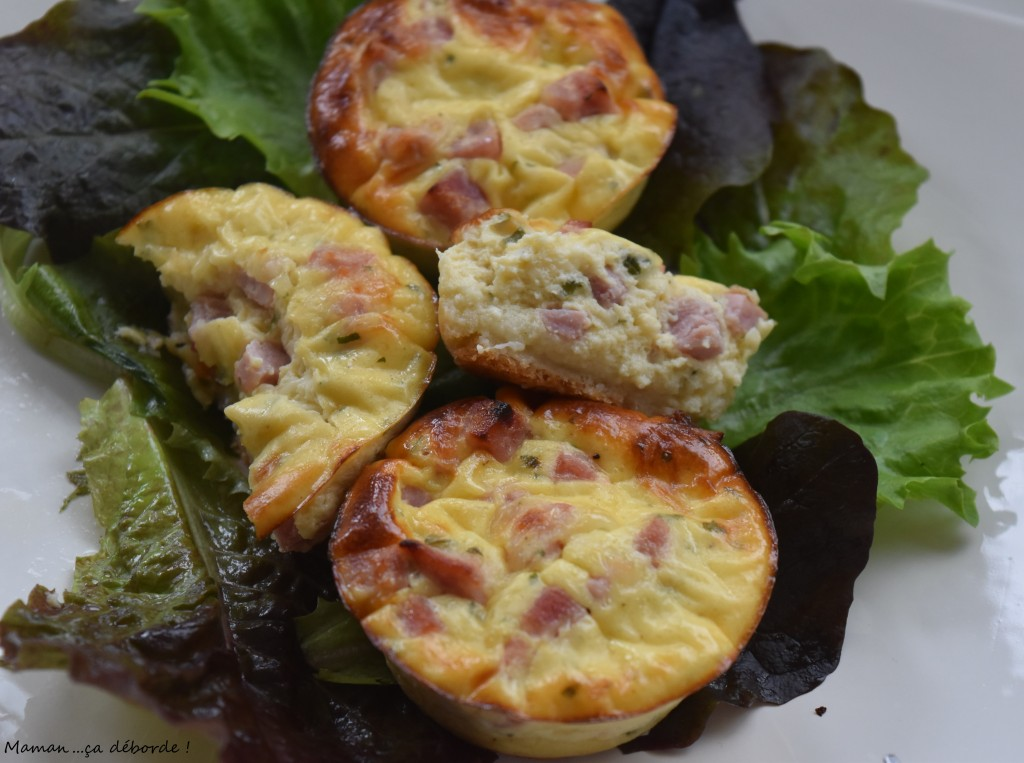 Tartelette soufflée jambon fromage