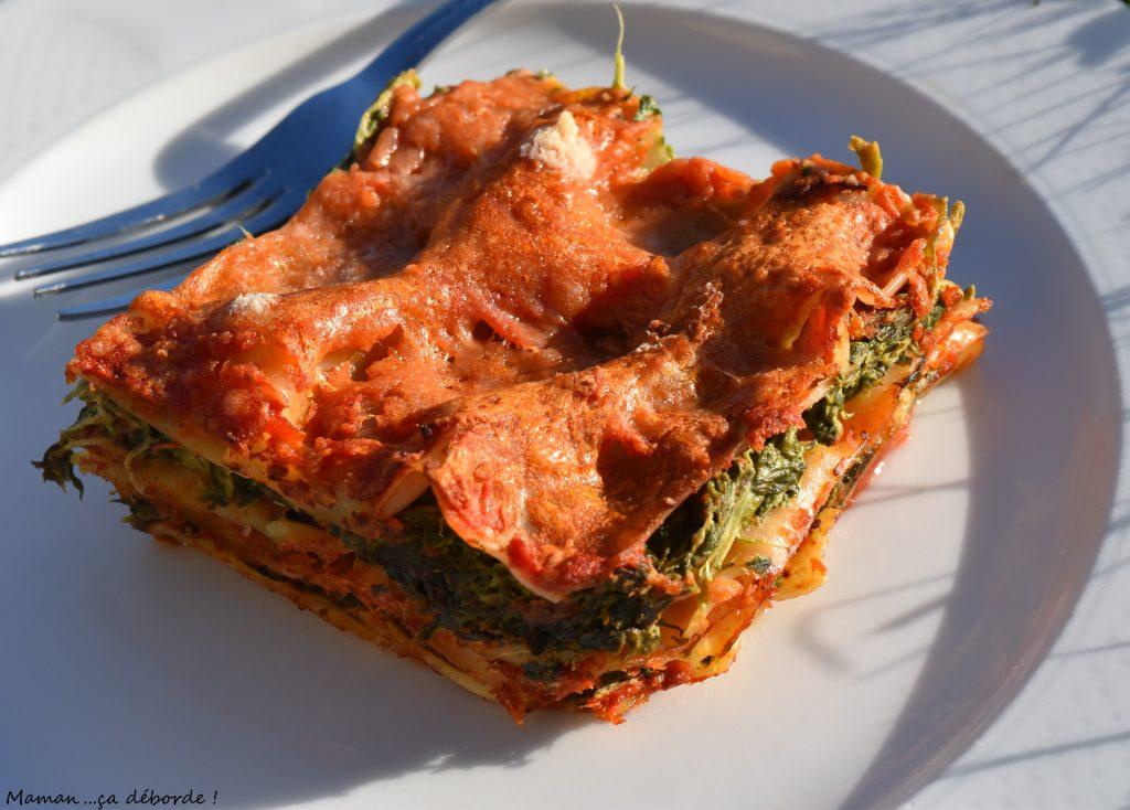 Lasagne épinard/tomate/ricotta