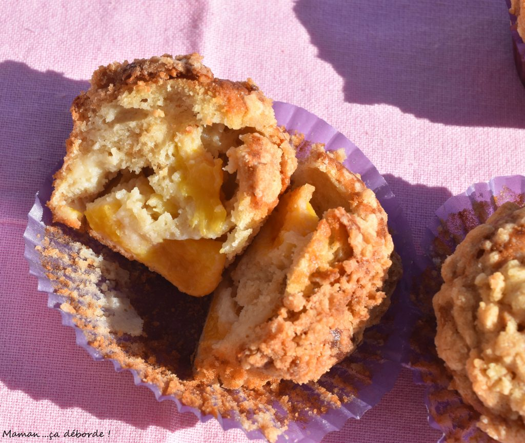 Minis crumb cakes à la nectarine