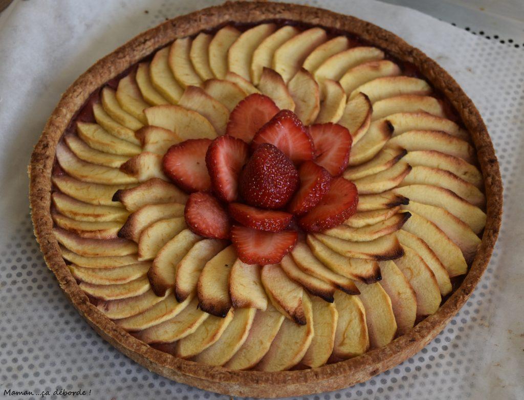 Tarte aux pommes la fraise maman a d borde - Decoration tarte aux fraises ...