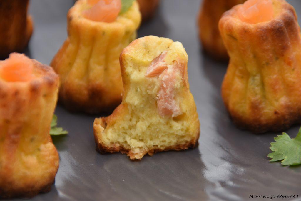 Cannelés saumon et fromage frais